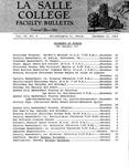 Faculty Bulletin: December 17, 1963