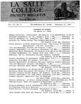 Faculty Bulletin: February 17, 1963 Vol6, No. 6