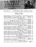 Faculty Bulletin: February 17, 1964