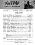 Faculty Bulletin: March 20, 1964