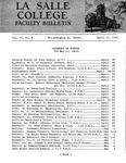Faculty Bulletin: April 17, 1964