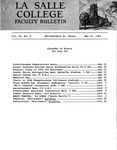 Faculty Bulletin: May 21, 1964