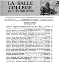 Faculty Bulletin: October 15, 1964