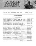 Faculty Bulletin: January 15, 1965