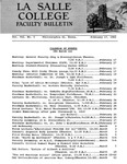 Faculty Bulletin: February 17, 1965