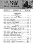 Faculty Bulletin: April 20, 1965