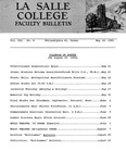 Faculty Bulletin: May 20, 1965