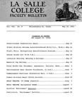 Faculty Bulletin: May 20, 1965