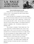 Faculty Bulletin: Tuition Increase for 1965