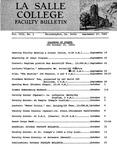 Faculty Bulletin: September 17, 1965