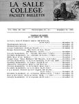 Faculty Bulletin: November 22, 1965