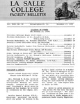 Faculty Bulletin: December 17, 1965