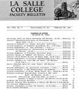 Faculty Bulletin: February 18, 1966