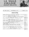 Faculty Bulletin: March 21, 1966