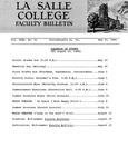 Faculty Bulletin: May 25, 1966