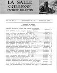 Faculty Bulletin: October 20, 1966