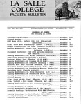 Faculty Bulletin: November 22, 1966