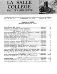 Faculty Bulletin: January 20, 1967