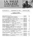 Faculty Bulletin: January 20, 1967
