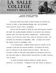 Faculty Bulletin: Tuition Increase, September, 1968