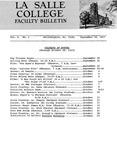 Faculty Bulletin: September 18, 1967