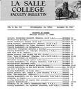 Faculty Bulletin: November 20, 1967