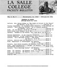 Faculty Bulletin: February 26, 1968
