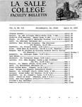 Faculty Bulletin: April 19, 1968