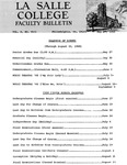Faculty Bulletin: May 27, 1968