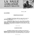 Faculty Bulletin: March 13 1969