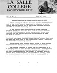 Faculty Bulletin: March 20, 1969