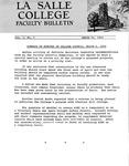 Faculty Bulletin: March 20, 1969