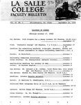 Faculty Bulletin: September 24, 1968