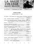 Faculty Bulletin: September 24, 1968