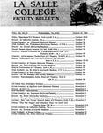 Faculty Bulletin: October 18, 1968