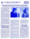 Faculty Bulletin: April 26, 1985 by La Salle University