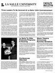Faculty Bulletin: April 28, 1987 by La Salle University