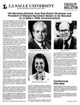 Faculty Bulletin: May 4, 1989 by La Salle University