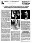 Faculty Bulletin: April 30, 1991