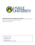 Guide to the Records of the Urban Studies Center by La Salle University Archives