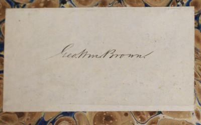 A Book with a Civil War Pedigree: Bookplate of George William Brown