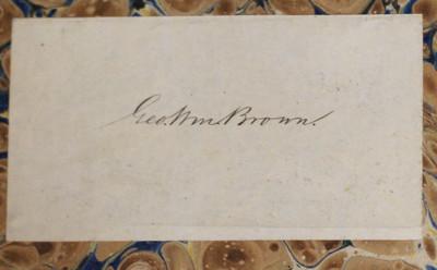 A Book with a Civil War Pedigree: Bookplate of George William Brown