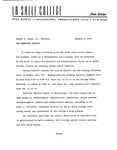Press Releases - 1971 by La Salle University