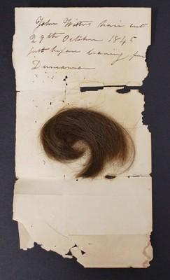 A lock of John Wister's hair