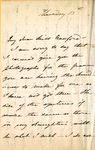 Letter written from Butler Place by Frances Anne Kemble