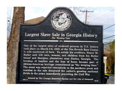 The Largest Slave Sale in Georgia History
