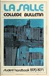 La Salle College Bulletin Student Handbook 1970-1971
