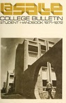 La Salle College Bulletin Student Handbook 1971-1972