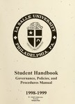 Student Handbook Governance, Policies, and Procedures Manual 1998-1999