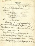 Letter from Rev. Edward J. Curran to President Brother Elzear Alfred